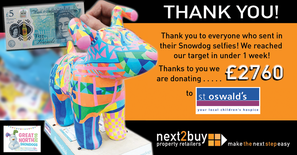 St Oswalds Donation - Thank You for all of your Snowdog Photos!