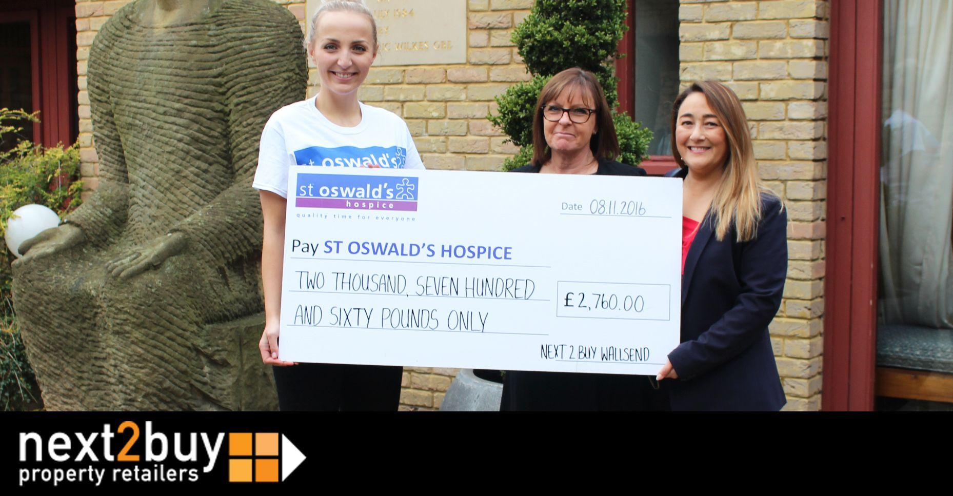 St Oswalds Hospice Cheque Presentation