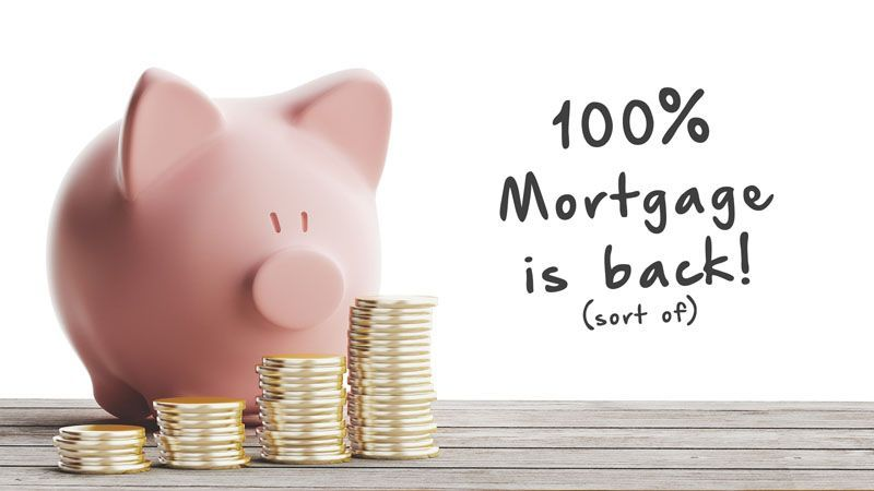 Is the 100% Mortgage Back?