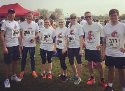 The Fine & Country Head Office Team's 10k run in support of Housing for Women