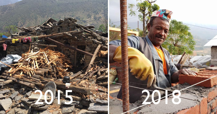 Three year anniversary of the Nepal earthquake: Over half a village built