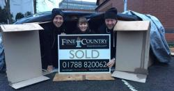 Fine & Country Rugby sleep rough for local homeless charity