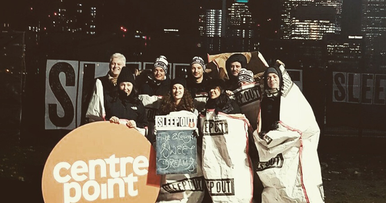 A restless sleep for our CEOs, Head Office team and London agents at the Centrepoint Sleep Out