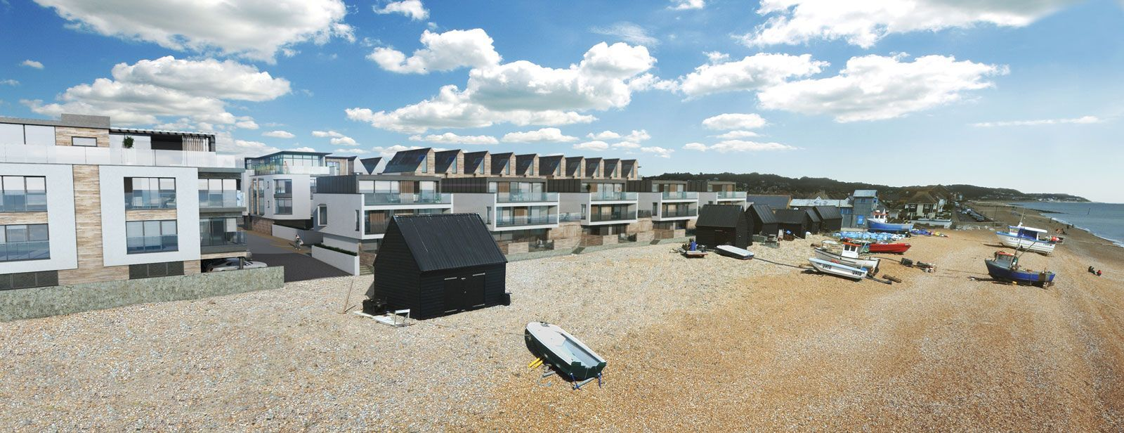 Fishermans Beach, Hythe, Range Road Villas Development