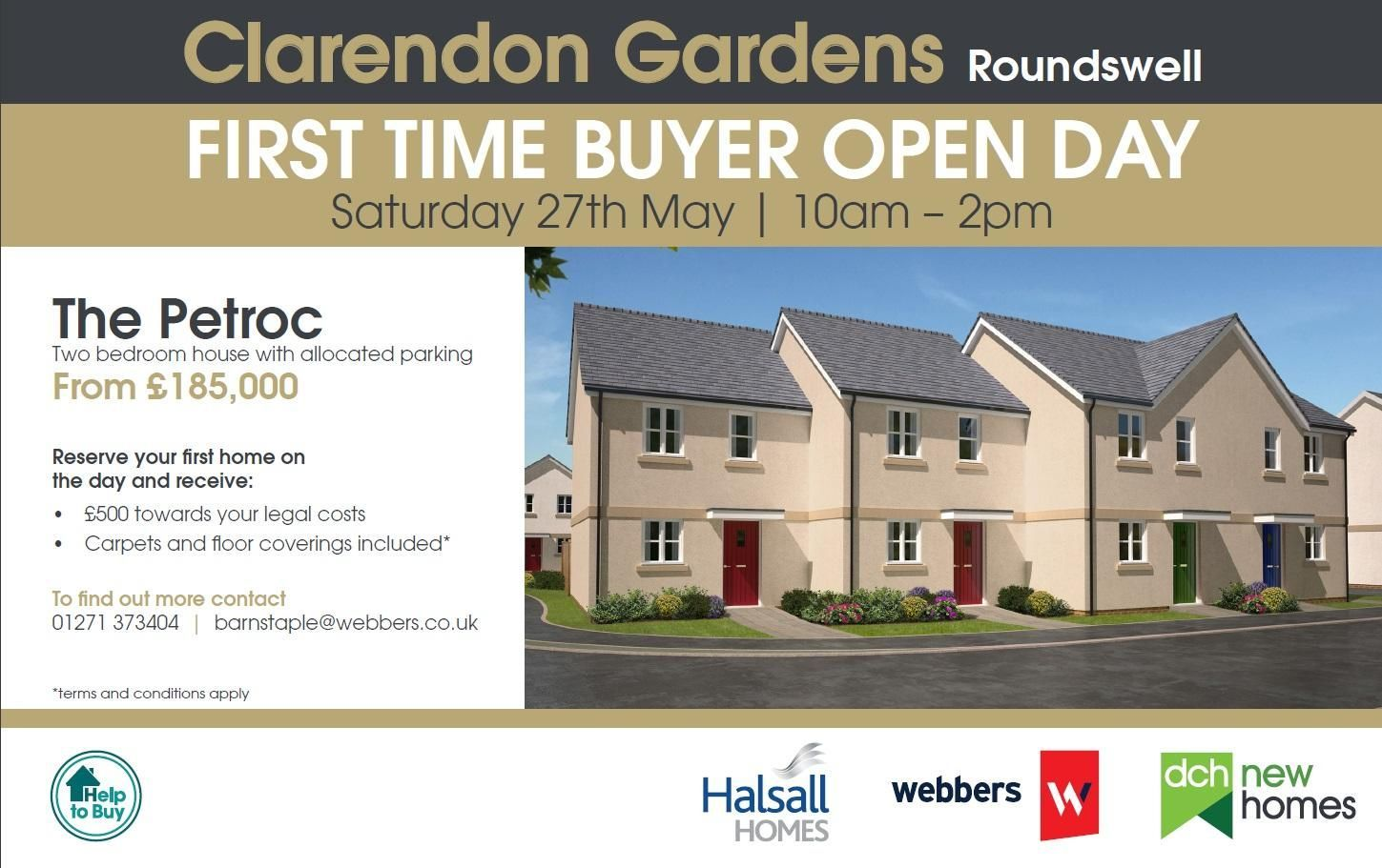 Open House Clarendon Garden, Barnstaple EX31 3FN  :- Saturday 27th May, 2017 10am - 2pm