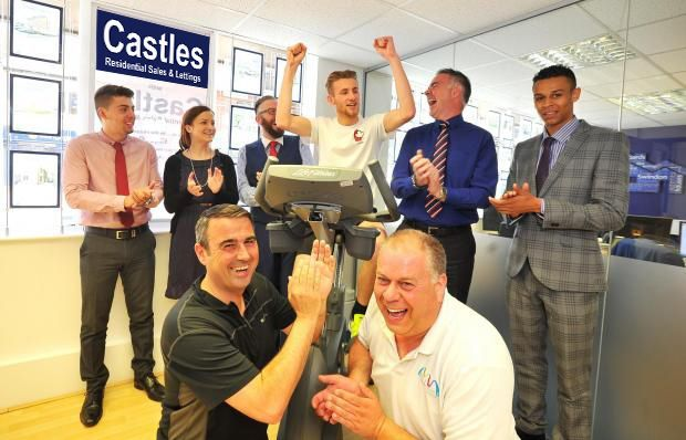 Castles Residential Sales & Lettings hosts event for charity and local triathlete