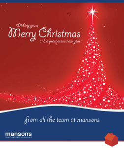 Christmas 2013 - A BIG Thank you from Mansons!