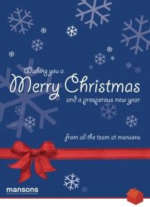 Wishing you a very Merry Christmas 2014 from Mansons!