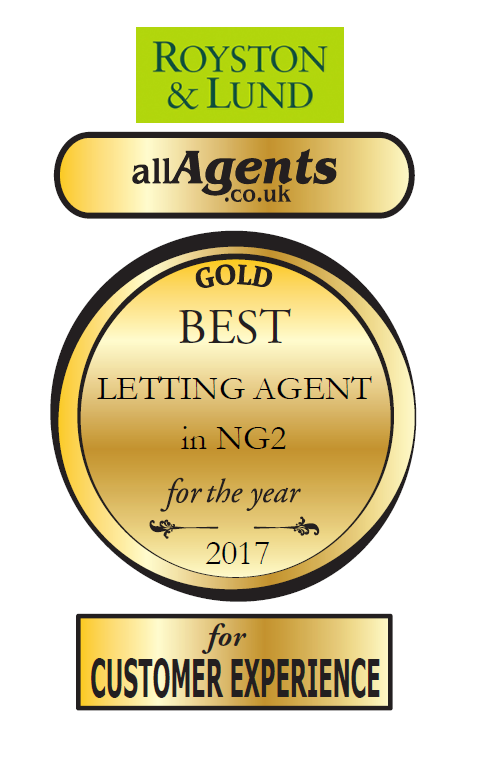Lettings Celebrate with  Gold Award for Best Letting Agent in NG2
