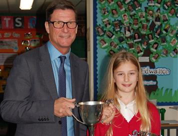 Sporting Achievement Award at Edwalton Primary School