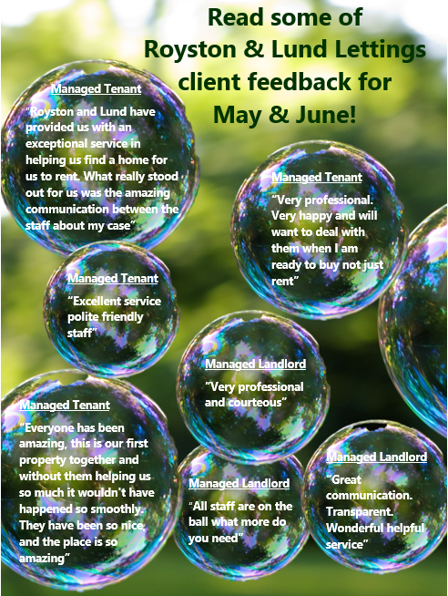 Another batch of great reviews for our lettings team