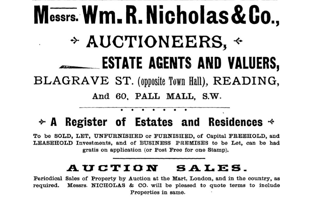 The Life and Death of William Richard Nicholas - founder of Nicholas Estate Agents