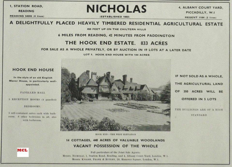 Nicholas estate agents 1900 - 1950
