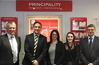 New Principality Building Society Chief Executive Officer visits Anglesey agency